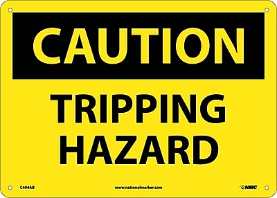 Caution, Tripping Hazard, 10X14, .040 Aluminum
