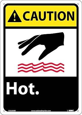 Caution, Hot, 14X10, .040 Aluminum
