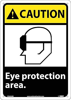 Caution, Eye Protection Area, 14X10, .040 Aluminum