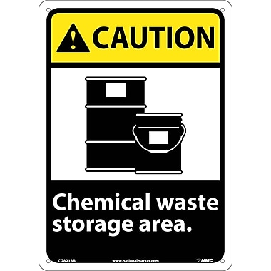 Caution, Chemical Waste Storage Area, 14
