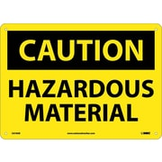 Caution, Hazardous Material, 10X14, .040 Aluminum