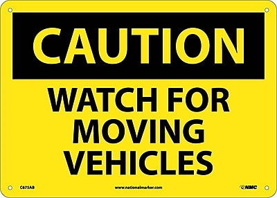 Caution, Watch For Moving Vehicles, 10X14, .040 Aluminum