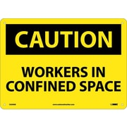 Caution, Workers In Confined Space, 10X14, .040 Aluminum