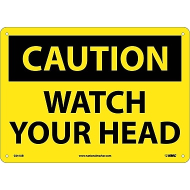Caution, Watch Your Head, 10X14, .040 Aluminum
