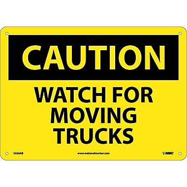 Caution, Watch For Moving Trucks, 10X14, .040 Aluminum