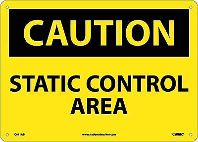 Caution, Static Control Area, 10X14, .040 Aluminum