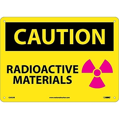 Caution, Radioactive Materials, Graphic 10X14, .040 Aluminum