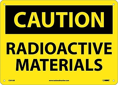 Caution, Radioactive Materials, 10X14, .040 Aluminum