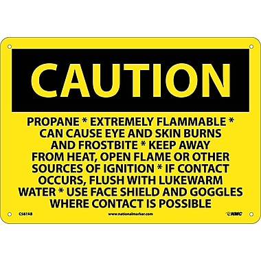 Caution, Propane Extremely Flammable Can Cause Eye And Skin Burns And Frostbite, 10