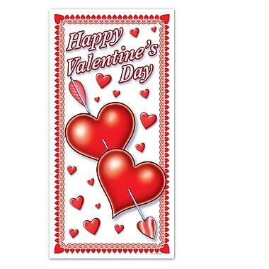 Enveloppe de porte Saint-Valentin, 30 po x 5 pi, paq./3