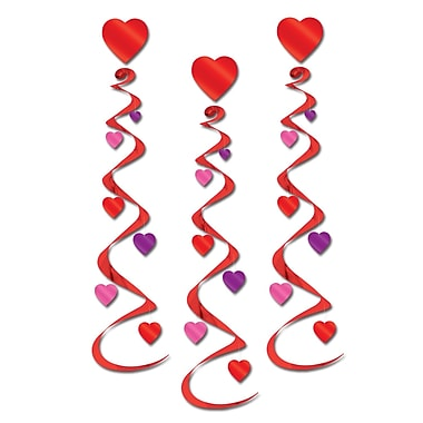 Spirales de cœurs, 30 po, paq./9