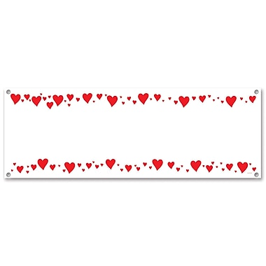 Hearts Sign Banner, 5' x 21