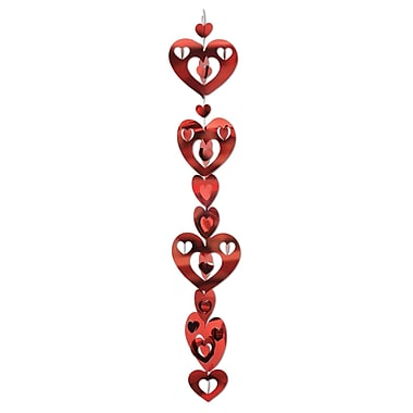 3D Prismatic Heart Gleam 'N Garland, 17