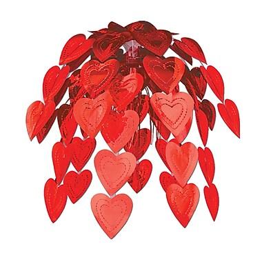 Cœurs en cascade, rouge, 24 po, paq./2