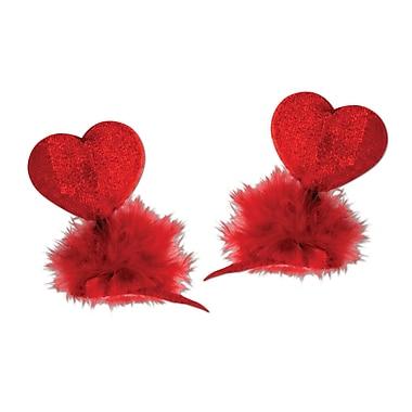 Épingles à cheveux avec cœur, rouge, paq./8