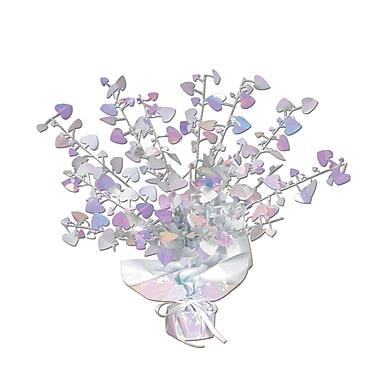 Milieu de table avec cœurs Gleam 'N Burst, opale, 15 po, paq./4