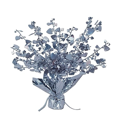 Heart Gleam 'N Burst Centerpiece, Silver, 15