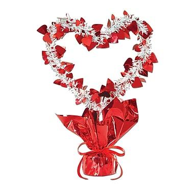Milieu de table avec cœurs Gleam 'N Burst, rouge, 11,5 po, paq./3