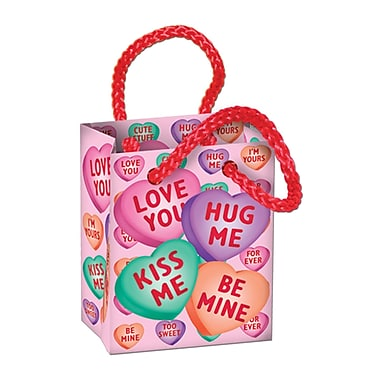 Candy Heart Mini Gift Bag Party Favours, 32/Pack