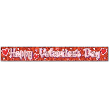 Metallic Happy Valentine's Day Fringe Banner, 8