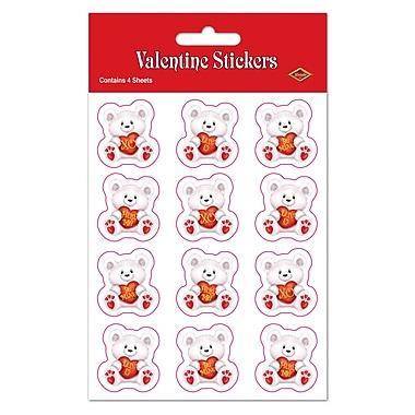 Valentine Bear Stickers, 4¾