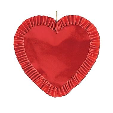 Cœur avec ruban satiné, 13 po, paq./4
