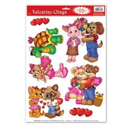 """Beistle 12"""" x 17"""" Cuddly Critter Clings, 42/Pack"""