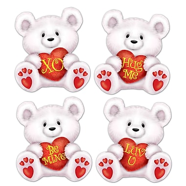 Mini Valentine Bear Cutouts, 5