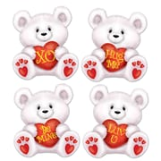"Mini Valentine Bear Cutouts, 5"", 70/Pack"
