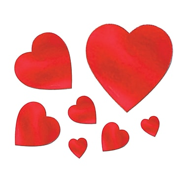 Packaged Foil Heart Cutouts, Assorted, 360/Pack