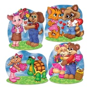 "Beistle 14"" Cuddly Critter Valentine Cutouts, 12/Pack"