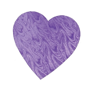 Embossed Foil Heart Cutout, Purple, 8½