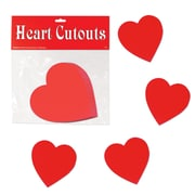 "Beistle 4"" Printed Heart Cutouts, 70/Pack"