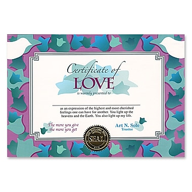 Beistle Certificate Of Love, 5
