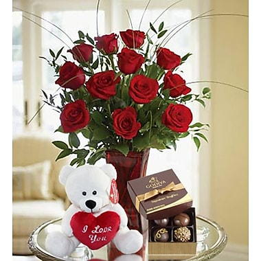 What a Bloom 12 Sweet Red Roses Bouquets