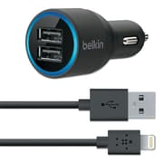 Belkin® Car Charger with Lightning™ Cable, USB, 20W, Black (MOB)