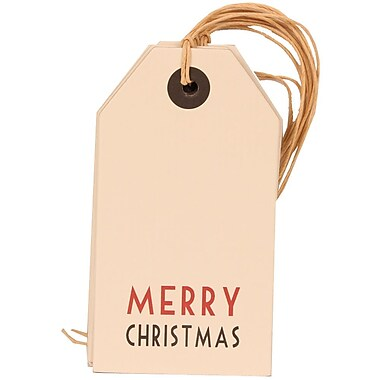 JAM Paper® Christmas Gift Tags, White with Merry Christmas, 6/pack (297525313)
