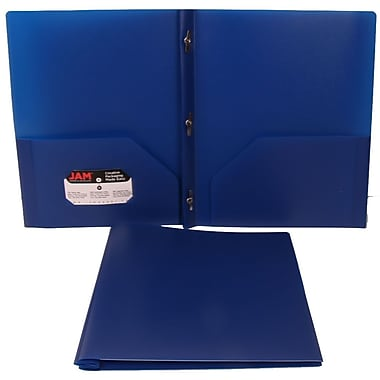 JAM Paper® Plastic Folder With Clasps