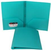 JAM PaperMD – Chemises à fermoir en plastique, bleu sarcelle, 12/paquet