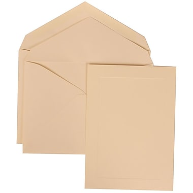 JAM Paper® Wedding Invitation Set, Large, 5.5 x 7.75, Ivory with Ivory Lined Envelopes with Simple Border, 50/pack (309325039)