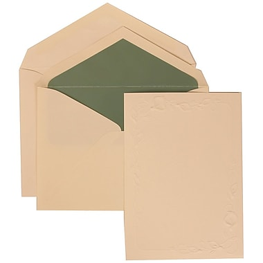 JAM Paper® Wedding Invitation Set, Large, 5.5 x 7.75, Ivory with Sage Green Lined Envelopes and Ivory Lily, 50/pack (312625282)