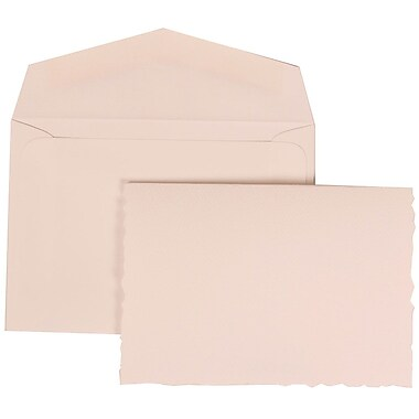 JAM Paper® Wedding Invitation Set, Small, 3 3/8 x 4 3/4, White with White Envelopes and Black Castilian, 100/pack (305724746)