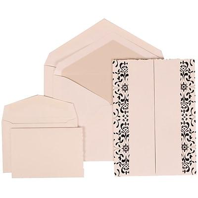 JAM Paper® Wedding Invitation Combo Sets, 1 Sm 1 Lg, White Cards, Black Castilian, Crystal Lined Envelopes, 150/pk (305724749)