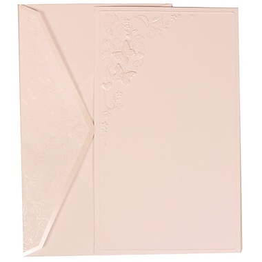 JAM Paper® Wedding Invitation Set, Large, 5.5 x 7.75, White Cards, Butterfly Design, White Envelopes, 50/pack (305825262)