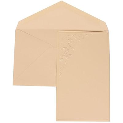 JAM Paper® Wedding Invitation Set, Large, 5.5 x 7.75, Ivory, Butterfly Vines Design, Ivory Lined Envelopes, 50/pack (305825264)