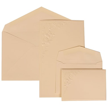 JAM Paper® Wedding Invitation Combo Sets, 1 Sm 1 Lg, Ivory Cards with Butterfly Vines, Ivory Envelopes, 150/pack (305825266)