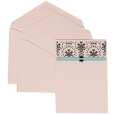 JAM Paper® Wedding Invitation Set, Large, 5.5 x 7.75, Blue Card with White Lined Envelopes, 50/pack (306724809)