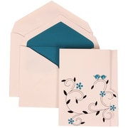 JAM Paper® Wedding Invitation Set, Large, 5.5 x 7.75, Colorful Birds with Blue Lined Envelopes, 50/pack (308124935)