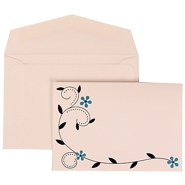 JAM Paper® Wedding Invitation Set, Small, 3 3/8 x 4 3/4, Blue with White Envelopes with Colorful Birds, 100/pack (308124936)