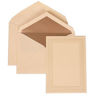 JAM Paper® Wedding Invitation Set, Large, 5.5 x 7.75, Ivory Card, Sheer White Ribbon, Ivory Lined Envelopes, 50/pack (304724664)